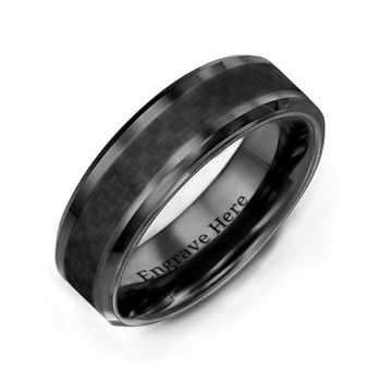 Men's Black Nightfall Ceramic Ring