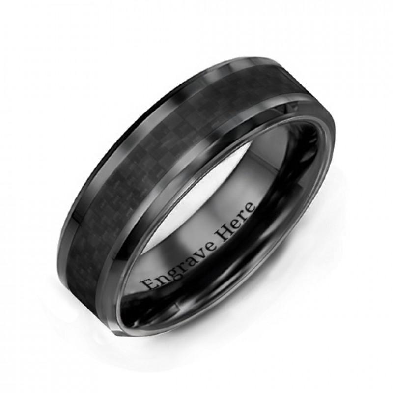 men 39 s black nightfall ceramic ring. Black Bedroom Furniture Sets. Home Design Ideas