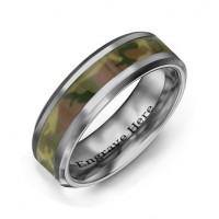 Men's Camouflage Tungsten Ring