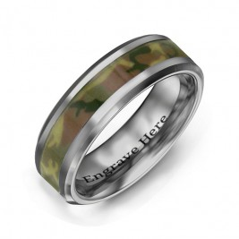 Men's Camouflage Tungsten Ring