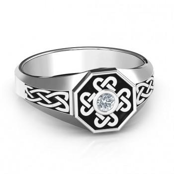 Men's Celtic Knot Signet Ring