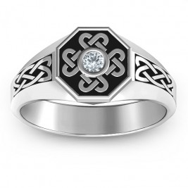 Men's Celtic Knot Signet Ring