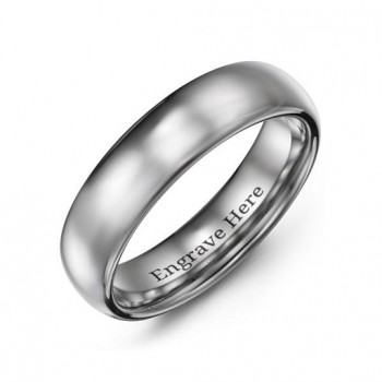 Men's Polished Tungsten Dome 6mm Ring