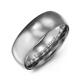 Men's Polished Tungsten Dome 8mm Ring