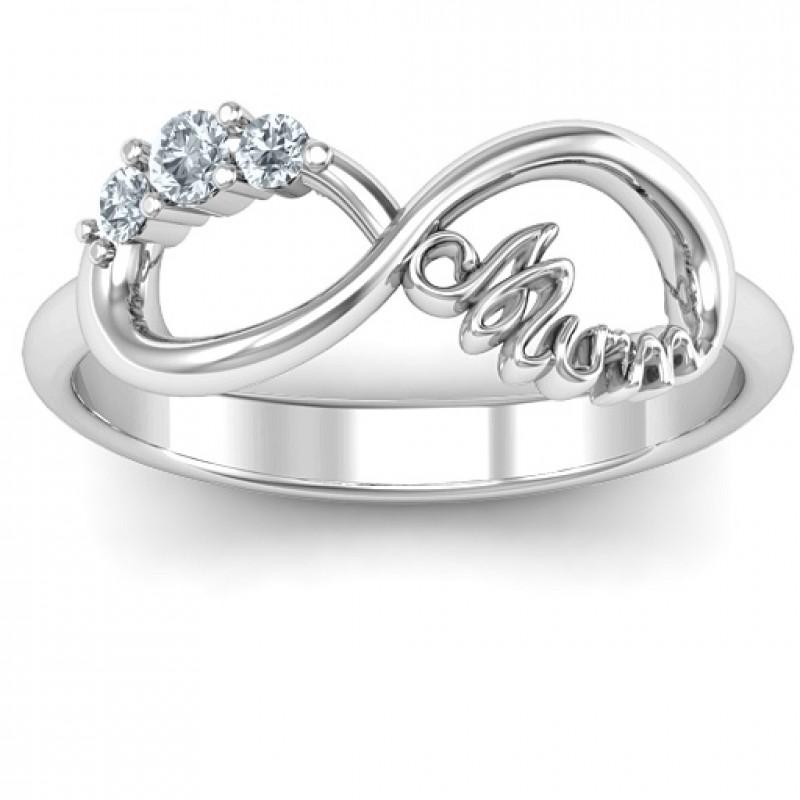 Mum S Infinite Love With Stones Ring