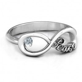 Peace Infinity Ring