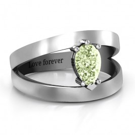 Pear With Flair Ring