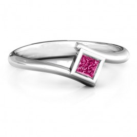 Princess Cut Bypass Ring