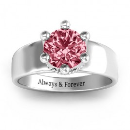 Radiant Royal Crown Ring