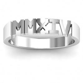 Roman Numeral Unisex Graduation Ring