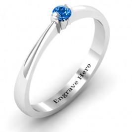 Semi Bezel Set Solitaire Ring