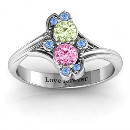Sense of Style Two Stone Ring