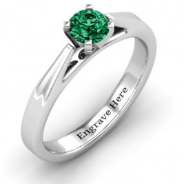 Ski Tip Solitaire Ring