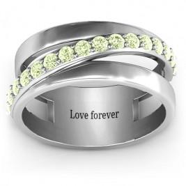 Sparkling Sash Ring