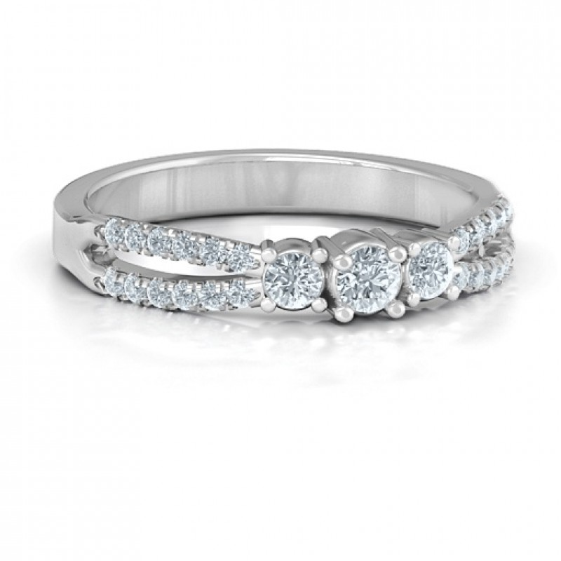 Split Shank Past Present And Future Ring