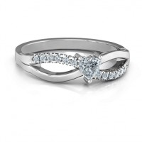 Split Shank Heart Promise Ring