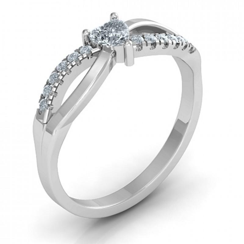 Split Shank Heart Promise Ring
