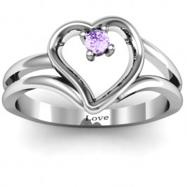 Split Shank Heart Ring
