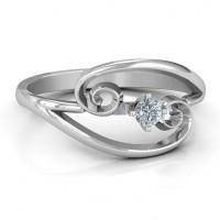 Split Shank Swirl Ring