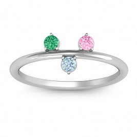 Stackable Sparkle 1-5 Stone Ring