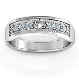 Star of David Band Ring