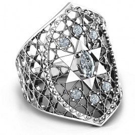Star of David Lattice Ring