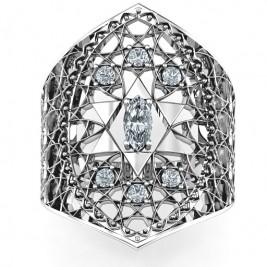 Star of David Lattice Ring