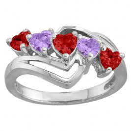 Starburst Heart Ring