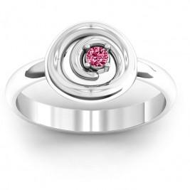 Sterling Silver  Swirling Desire  Ring