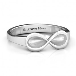 Sterling Silver  Vogue  Infinity Ring