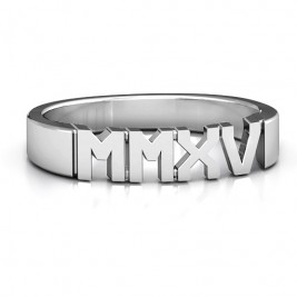 Sterling Silver 2015 Roman Numeral Graduation Ring