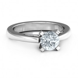 Sterling Silver Adoration Solitaire Ring
