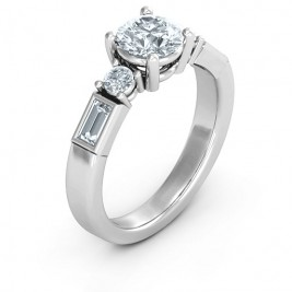 Sterling Silver Andrea Engagement Ring