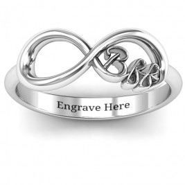Sterling Silver BFF Friendship Infinity Ring