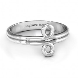 Sterling Silver Basket Weave Loop Ring