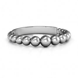 Sterling Silver Beaded Beauty Ring