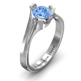 Sterling Silver Beloved Tri-Set Ring