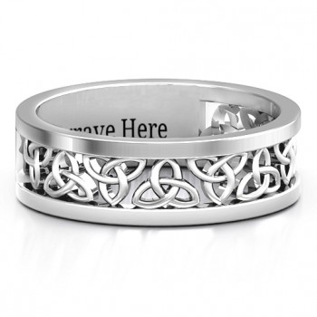 Sterling Silver Celtic Wreath Men's Ring