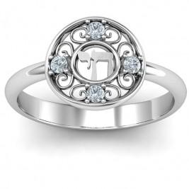 Sterling Silver Chai Filigree Ring
