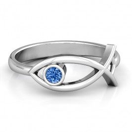 Sterling Silver Classic Fish Ring