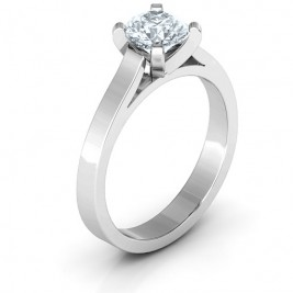 Sterling Silver Classic Solitaire Ring