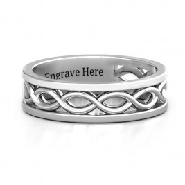 Sterling Silver Diadem Infinity Women's Ring
