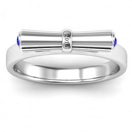 Sterling Silver Diploma Scroll Graduation Ring