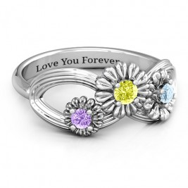 Sterling Silver Endless Spring Infinity Ring