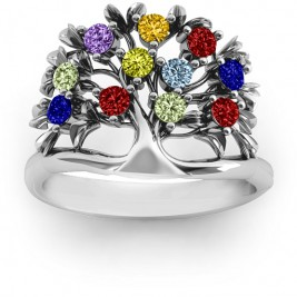Sterling Silver Family Tree Ring