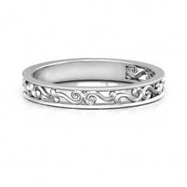 Sterling Silver Filigree Band Ring