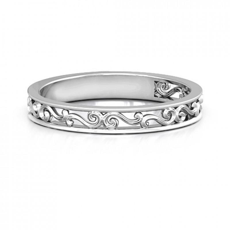 Filigree Ring Bands: Sterling Silver Filigree Band Ring