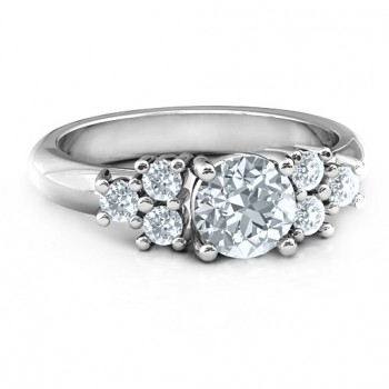 Sterling Silver Flourish Engagement Ring