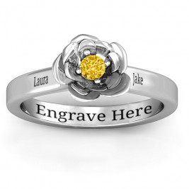Sterling Silver Flourish Rose Ring