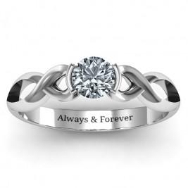 Sterling Silver Half Bezel Infinity Ring